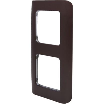 Рамка для розеток и выключателей Cosy 2 поста цвет шоколад