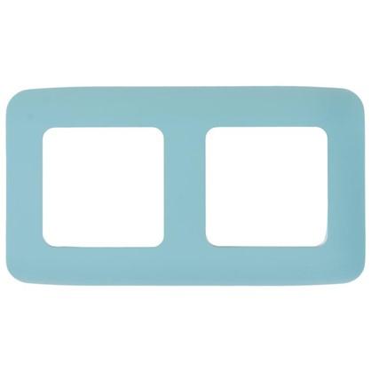 Рамка для розеток и выключателей Cosy 2 поста цвет темная бирюза