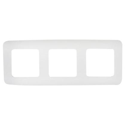 Рамка для розеток и выключателей Cosy 3 поста цвет белый
