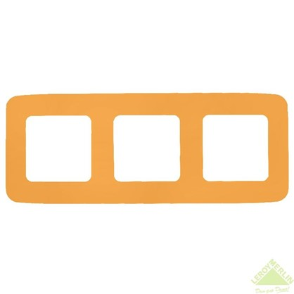 Рамка для розеток и выключателей Cosy 3 поста цвет оранжевый