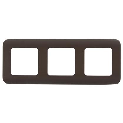 Рамка для розеток и выключателей Cosy 3 поста цвет шоколад