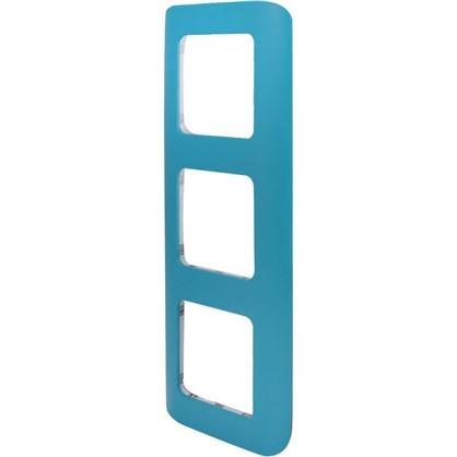 Рамка для розеток и выключателей Cosy 3 поста цвет темная бирюза