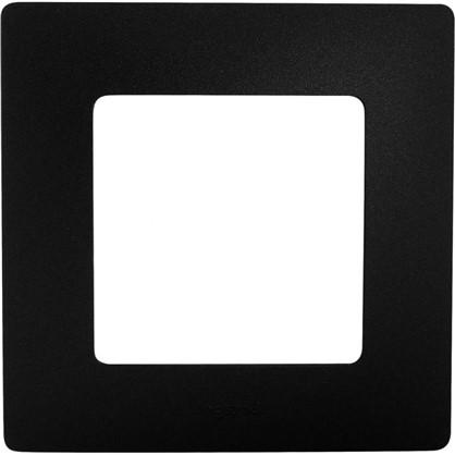 Рамка для розеток и выключателей Etika 1 пост цвет антрацит