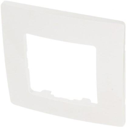 Рамка для розеток и выключателей Etika 1 пост цвет белый