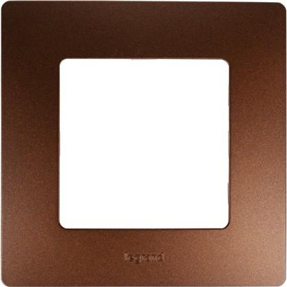 Рамка для розеток и выключателей Etika 1 пост цвет какао