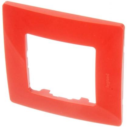 Рамка для розеток и выключателей Etika 1 пост цвет красный