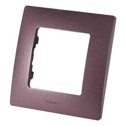 Рамка для розеток и выключателей Etika 1 пост цвет слива