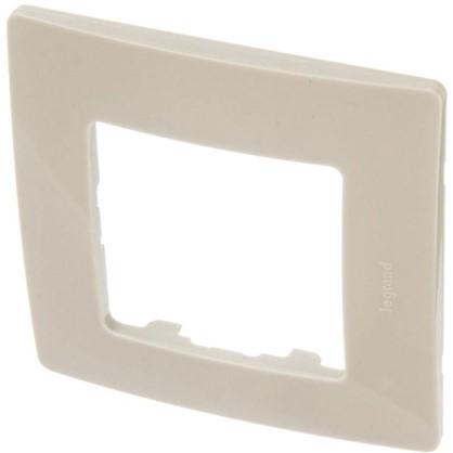 Рамка для розеток и выключателей Etika 1 пост цвет светлая галька