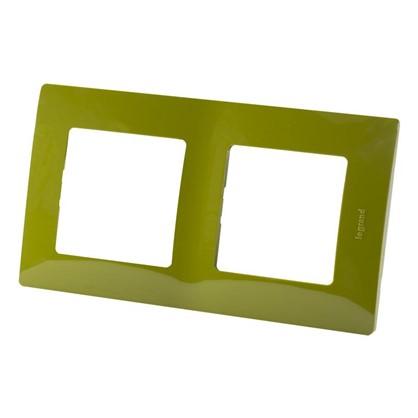 Купить Рамка для розеток и выключателей Etika 2 поста цвет зеленый папоротник дешевле