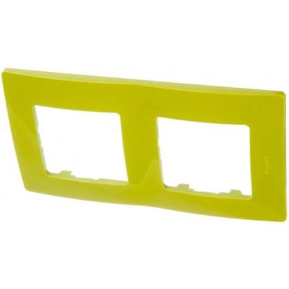 Рамка для розеток и выключателей Etika 2 поста цвет зеленый папоротник