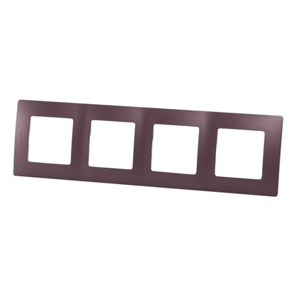 Рамка для розеток и выключателей Etika 4 поста цвет слива