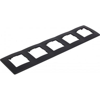 Купить Рамка для розеток и выключателей Etika 5 постов цвет антрацит дешевле