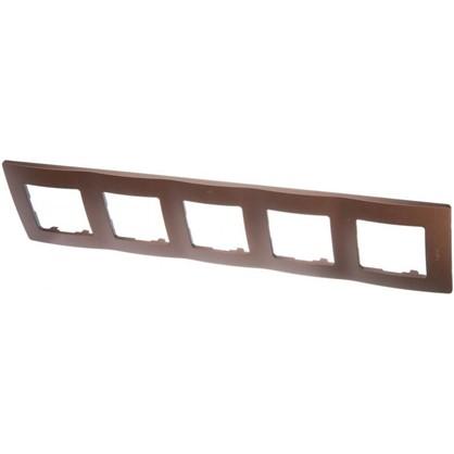 Купить Рамка для розеток и выключателей Etika 5 постов цвет какао дешевле