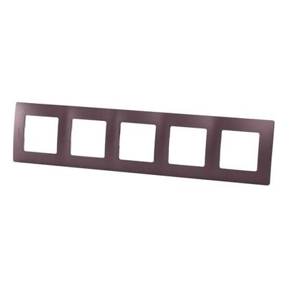 Рамка для розеток и выключателей Etika 5 постов цвет слива