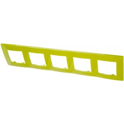 Рамка для розеток и выключателей Etika 5 постов цвет зеленый папоротник