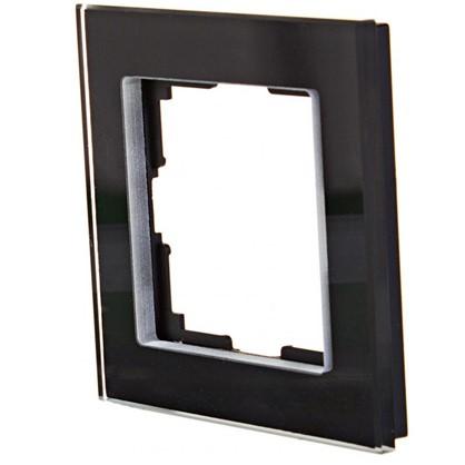 Купить Рамка для розеток и выключателей Favorit 1 пост цвет чёрный дешевле