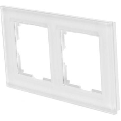 Рамка для розеток и выключателей Favorit 2 поста цвет белый