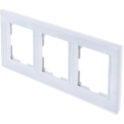 Рамка для розеток и выключателей Favorit 3 поста цвет белый