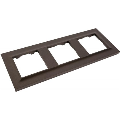 Рамка для розеток и выключателей Legrand 3 поста сталь цвет магнезиум