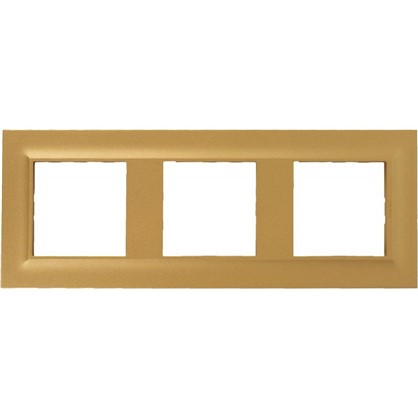 Рамка для розеток и выключателей Legrand 3 поста сталь цвет золото цена