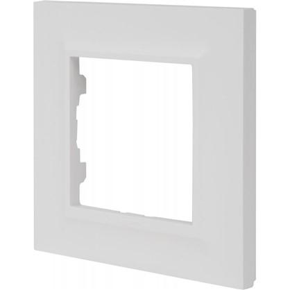Рамка для розеток и выключателей Legrand Structura 1 пост цвет белый