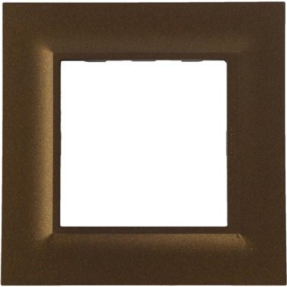 Рамка для розеток и выключателей Legrand Structura 1 пост цвет бронза