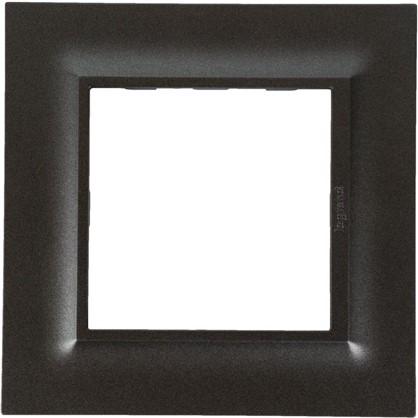Рамка для розеток и выключателей Legrand Structura 1 пост цвет магнезиум