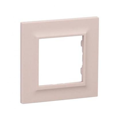 Рамка для розеток и выключателей Legrand Structura 1 пост цвет розовый