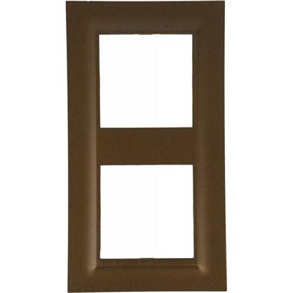 Купить Рамка для розеток и выключателей Legrand Structura 2 поста цвет бронза дешевле