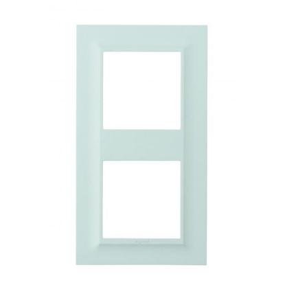 Рамка для розеток и выключателей Legrand Structura 2 поста цвет голубой