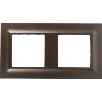 Купить Рамка для розеток и выключателей Legrand Structura 2 поста цвет магнезиум дешевле