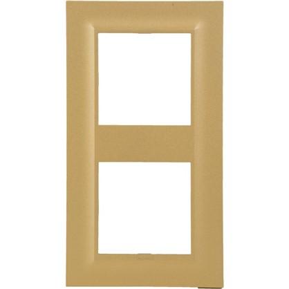 Рамка для розеток и выключателей Legrand Structura 2 поста цвет золото
