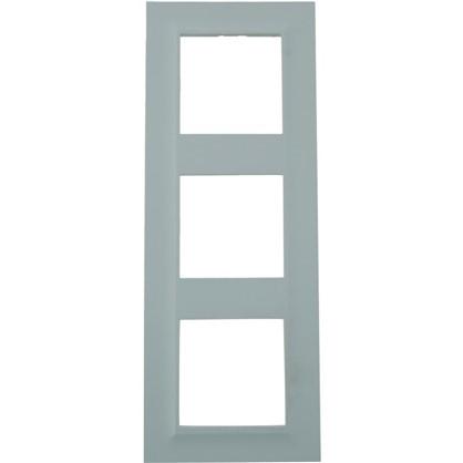 Рамка для розеток и выключателей Legrand Structura 3 поста цвет голубой