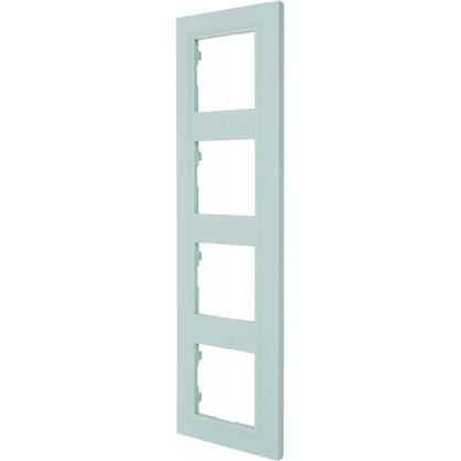 Рамка для розеток и выключателей Legrand Structura 4 поста цвет голубой