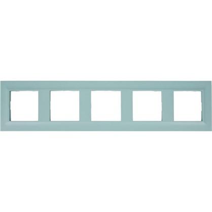 Рамка для розеток и выключателей Legrand Structura 5 постов цвет голубой