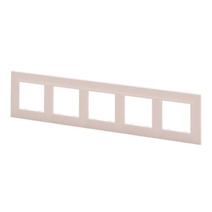 Рамка для розеток и выключателей Legrand Structura 5 постов цвет розовый