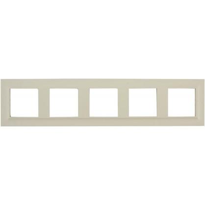 Купить Рамка для розеток и выключателей Legrand Structura 5 постов цвет слоновая кость дешевле