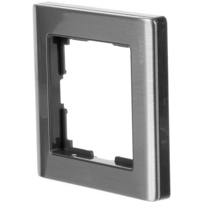 Рамка для розеток и выключателей Metallic 1 пост цвет глянцевый никель