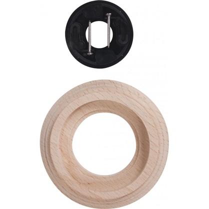 Рамка для розеток и выключателей Натурель 1 пост дерево