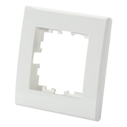 Купить Рамка для розеток и выключателей плоская 1 пост цвет белый дешевле