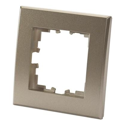 Рамка для розеток и выключателей плоская 1 пост цвет матовая бронза