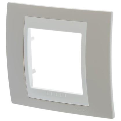 Рамка для розеток и выключателей Schneider Electric Unica 1 пост цвет песчаный/бежевый