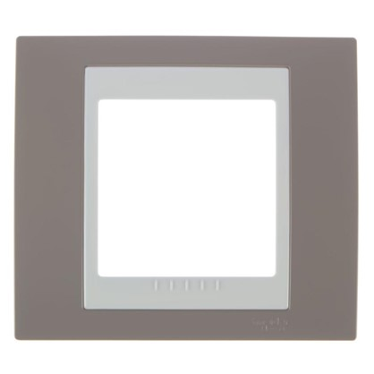Купить Рамка для розеток и выключателей Schneider Electric Unica хамелеон 1 пост цвет коричневый/бежевый дешевле