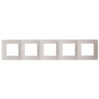 Рамка для розеток и выключателей Unica 5 постов цвет бежевый
