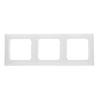 Купить Рамка для розеток и выключателей Valena 3 поста цвет белый дешевле