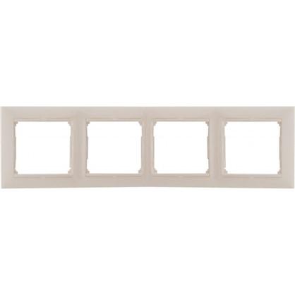 Рамка для розеток и выключателей Valena 4 поста цвет белый