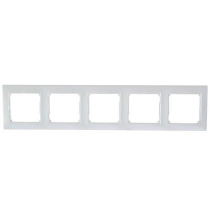 Рамка для розеток и выключателей Valena 5 постов цвет белый