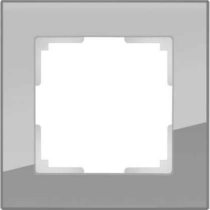 Рамка Favorit 1 пост стекло цвет серый