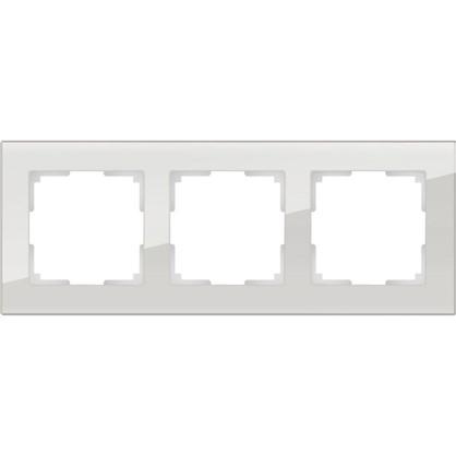 Рамка Favorit 3 поста цвет дымчатое стекло