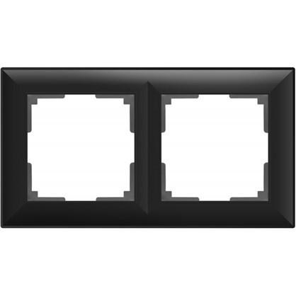Купить Рамка Fiore 2 поста цвет чёрный матовый дешевле